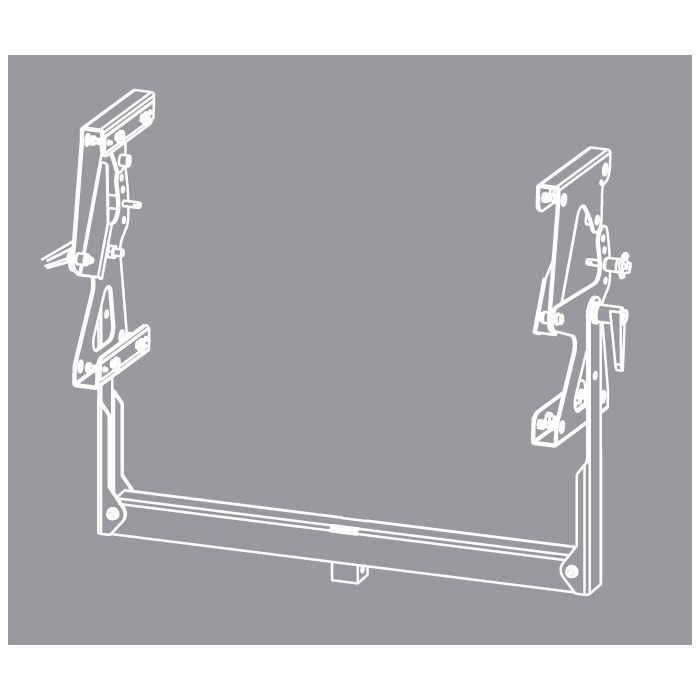 Nexo GEO S12 Two Cabinets Pole Stand Bracket (Max2 Cabinets)