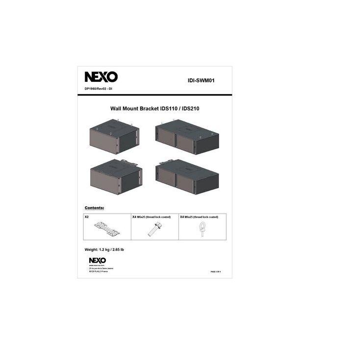 Nexo ID Serie Sub Bass Wall Mount Bracket.