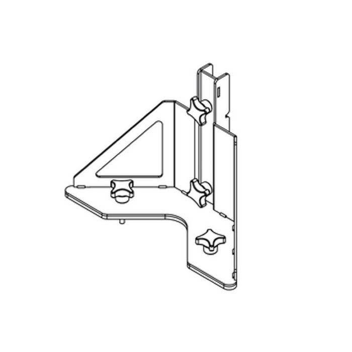 Nexo Bracket for ID84/ID84L/IDS312 Base Plate Blk