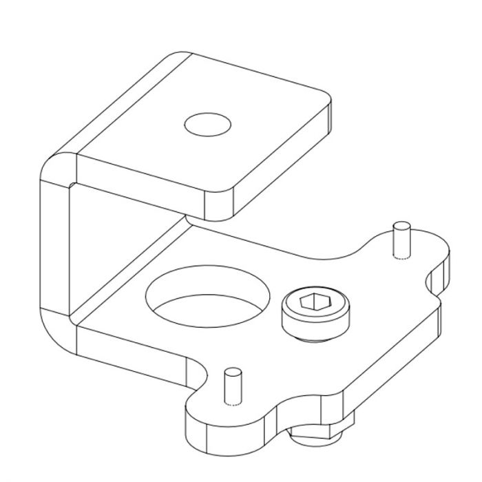 Nexo Celling adapter for P serie White
