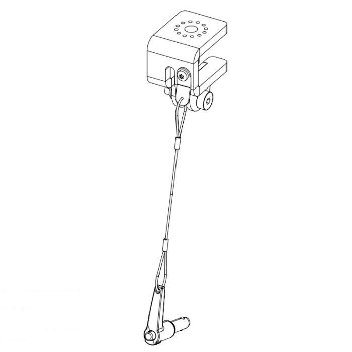 Nexo Wall Mount to Lift bar adapter for P serie White