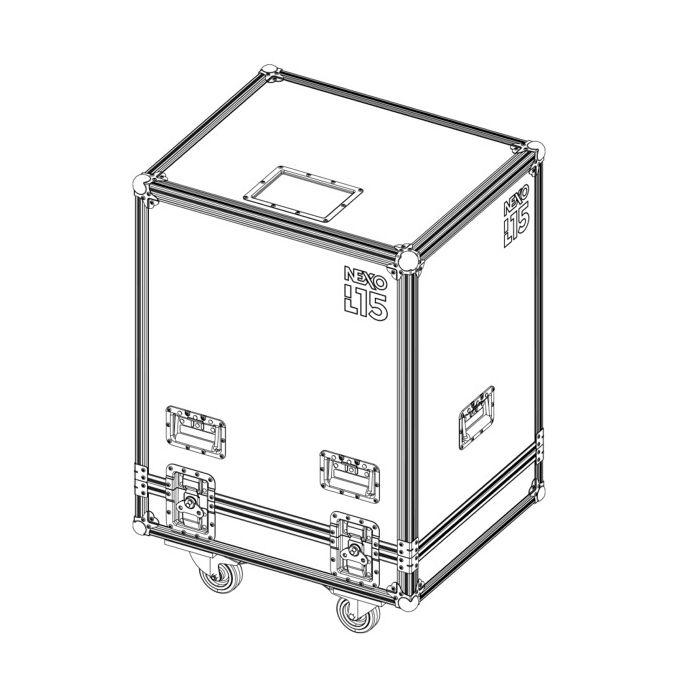 Nexo Flight case for 2x L15
