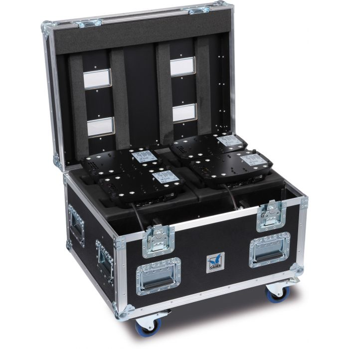 JB Flight case for 4 x Sparx 7 Amptown SIP foam
