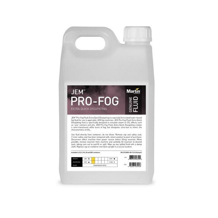 Martin JEM Pro-Fog Fluid, Extra Quick Dissipating, 4x 2.5 l
