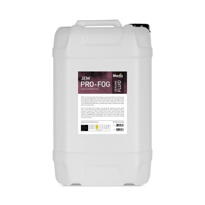 Martin JEM Pro-Fog Fluid, Quick Dissipating, 25 l
