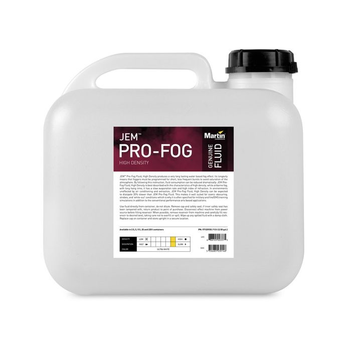 Martin JEM Pro-Fog Fluid, High Density, 9.5 l