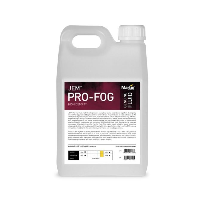 Martin JEM Pro-Fog Fluid, High Density, 4x 2.5 l