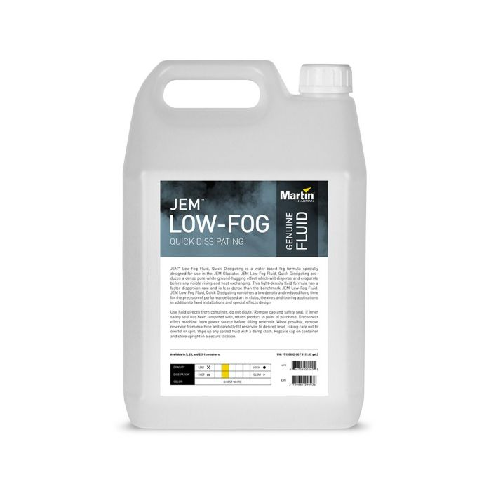 Martin JEM Low-Fog Fluid, Quick Dissipating, 4x 5 l