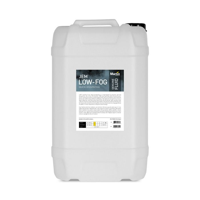 Martin JEM Low-Fog Fluid, Quick Dissipating, 25 l