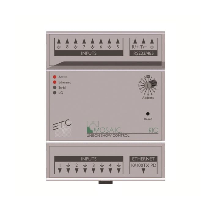 ETC Mosaic Remote I/O - 8 In / 0 Out