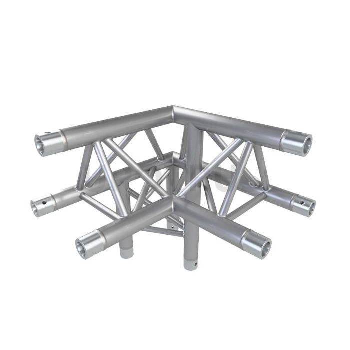 Eurotruss FD33 90 dgr + down LEFT 3-way corner 50x50x50cm