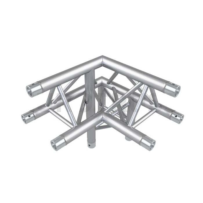 Eurotruss FD33 90 dgr + down RIGHT 3-way corner 50x50x50cm
