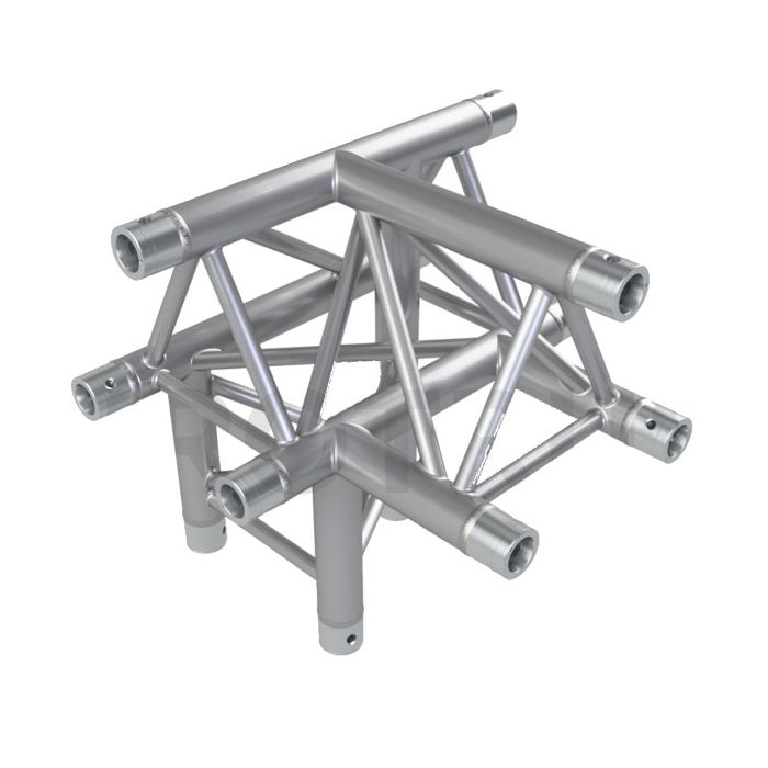 Eurotruss FD33 T-joint + down LEFT 4-way corner 50x50x50cm