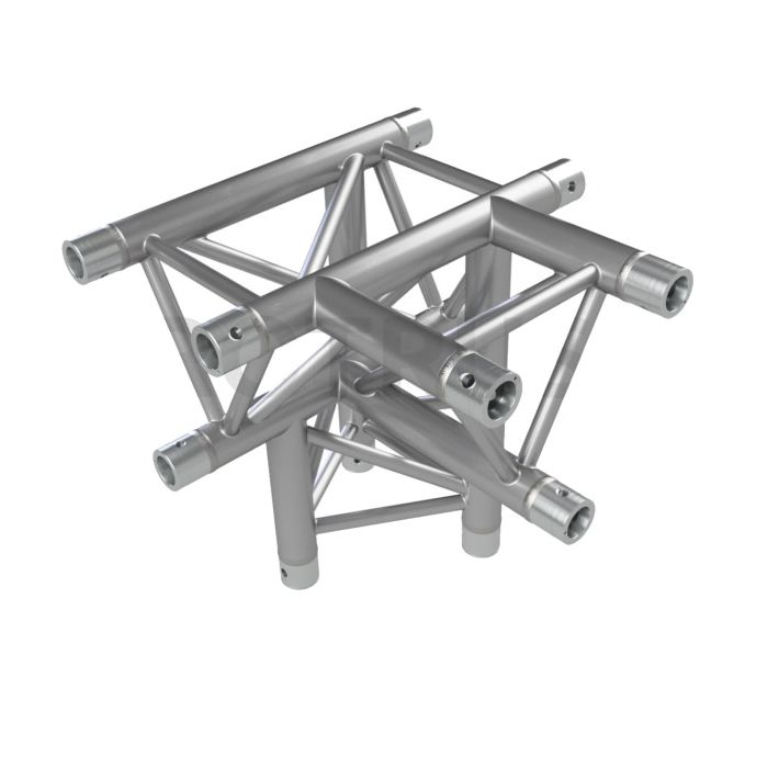 Eurotruss FD33 T-joint + up LEFT 4-way corner 50x50x50cm