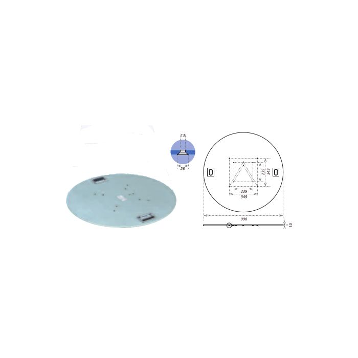 Eurotruss Totem Plate (steel) D=99cm 80k