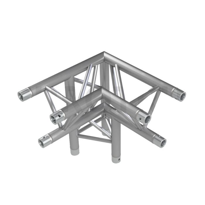 Eurotruss HD33 90 dgr + up RIGHT 3-way corner 50x50x50cm