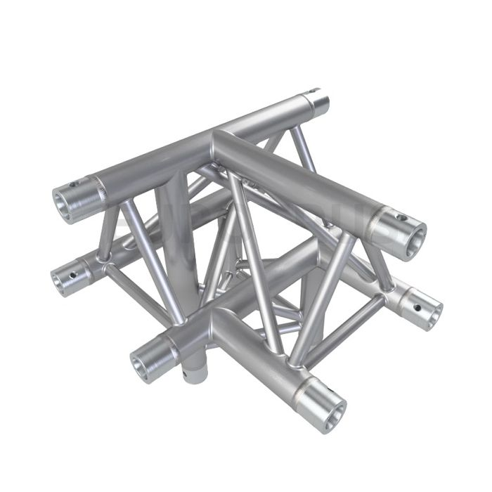 Eurotruss HD33 T-joint + down RIGHT 4-way corner 50x50x50cm