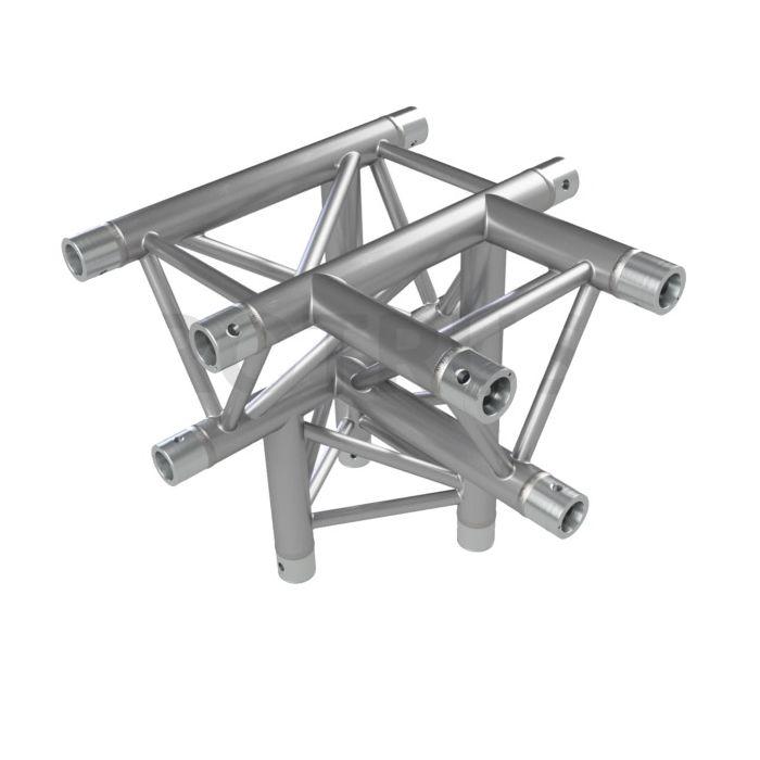 Eurotruss HD33 T-joint + up LEFT 4-way corner 50x50x50cm