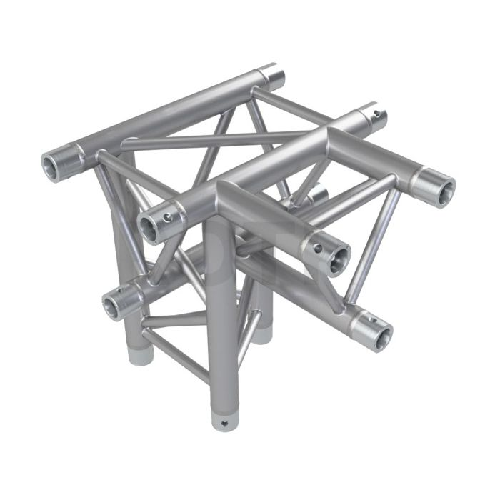 Eurotruss HD33 T-joint + up RIGHT 4-way corner 50x50x50cm