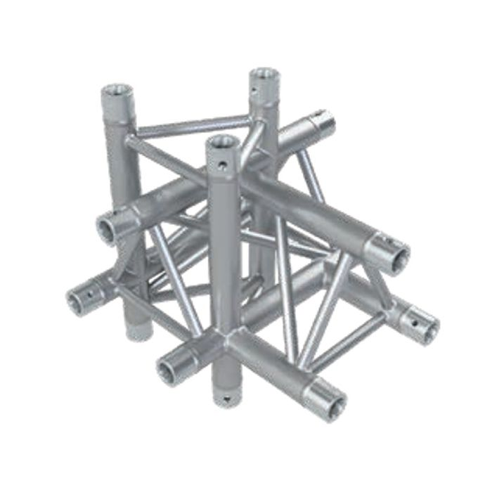 Eurotruss HD33 90 dgr+up+down LEFT 4-way corner 50x50x50cm
