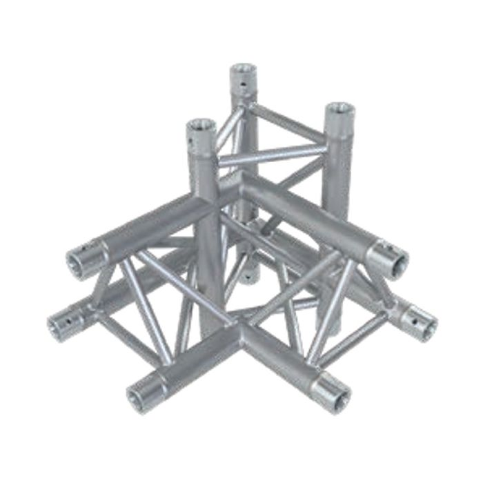 Eurotruss HD33 90 dgr+up+down RIGHT 4-way corner 50x50x50cm
