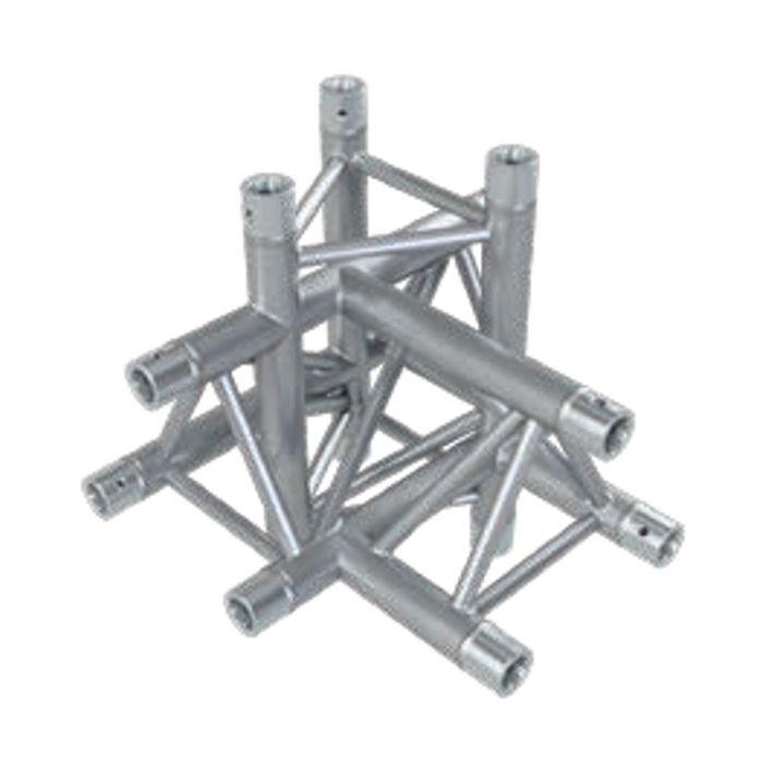 Eurotruss HD33 T-joint+up+down RIGHT 5-way corner 50x50x50cm