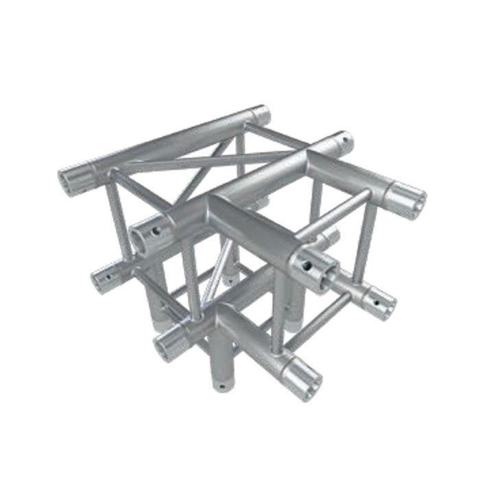 Eurotruss HD34 T-joint + down 4-way corner 50x50x50cm