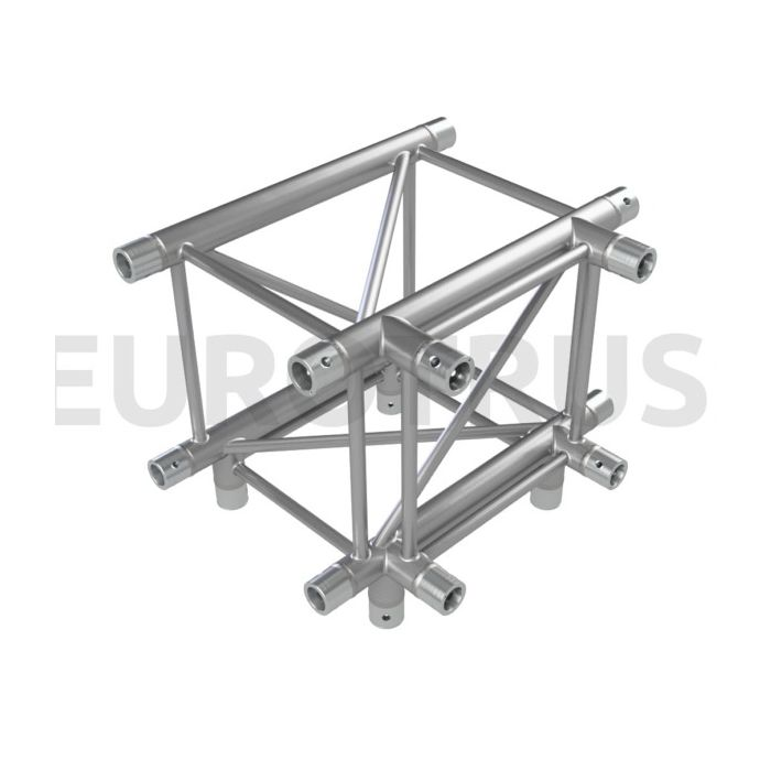 Eurotruss HD44 T-joint+down 4-way corner 60x50x50cm
