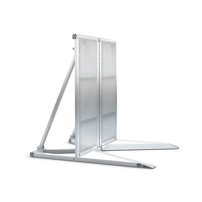 Eurotruss Crowd Barrier Module 1035 Adjustable Corner silver