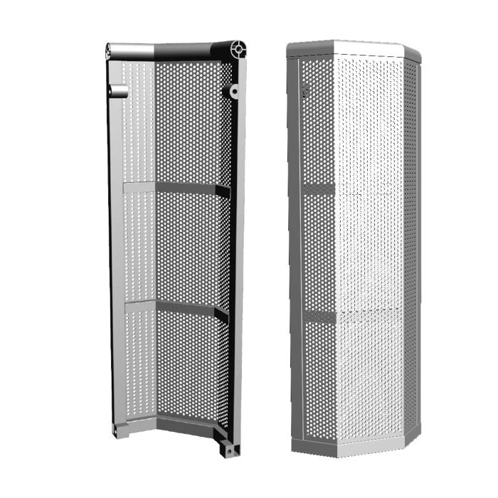 Eurotruss Crowd Barrier 90° Comp. for Single Gate Access