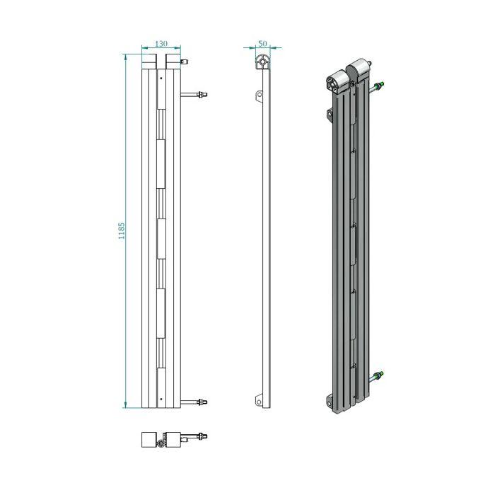 Eurotruss Crowd Barrier Level Height Adapter + Conn Kit