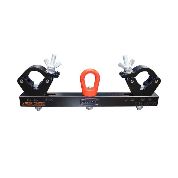 Doughty T55725 Solid Hanging Truss Adaptor 250Kg Black