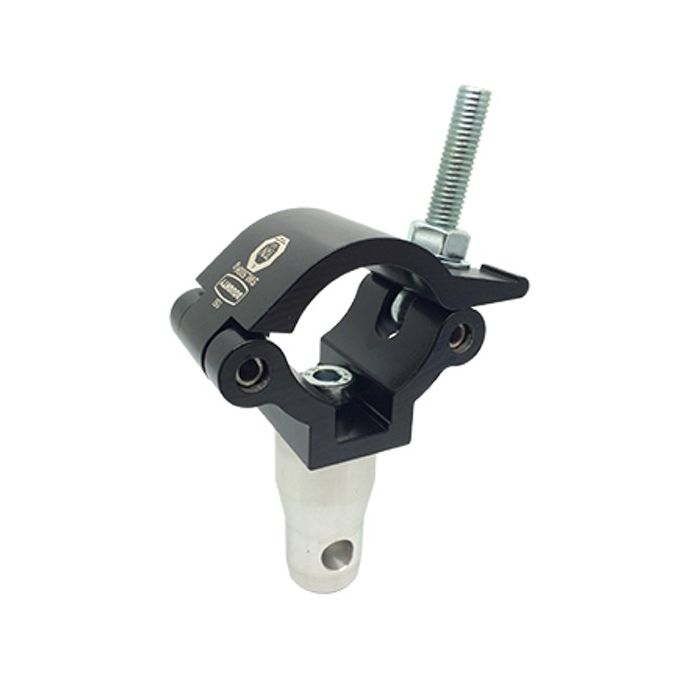 Doughty T45816 Lightweight Clamp With Half Connector Black