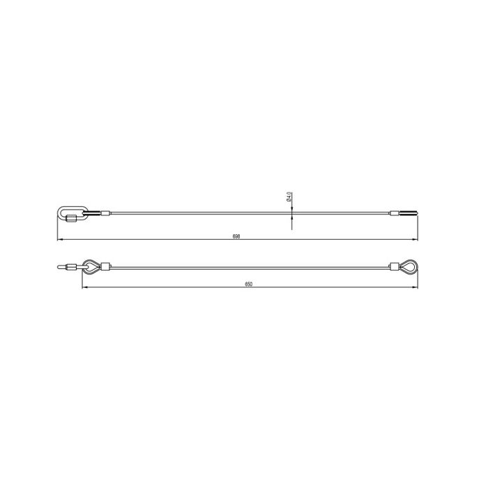 Doughty T45850 Safety Bond 4x650mm M6 Quick Link Silver