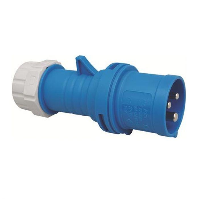 CEE 16A 1-fas blå stickpropp