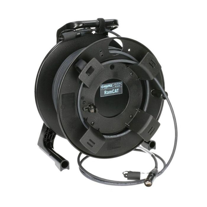 Klotz RAMCAT6 Outdoor black  50m on GT310 drum