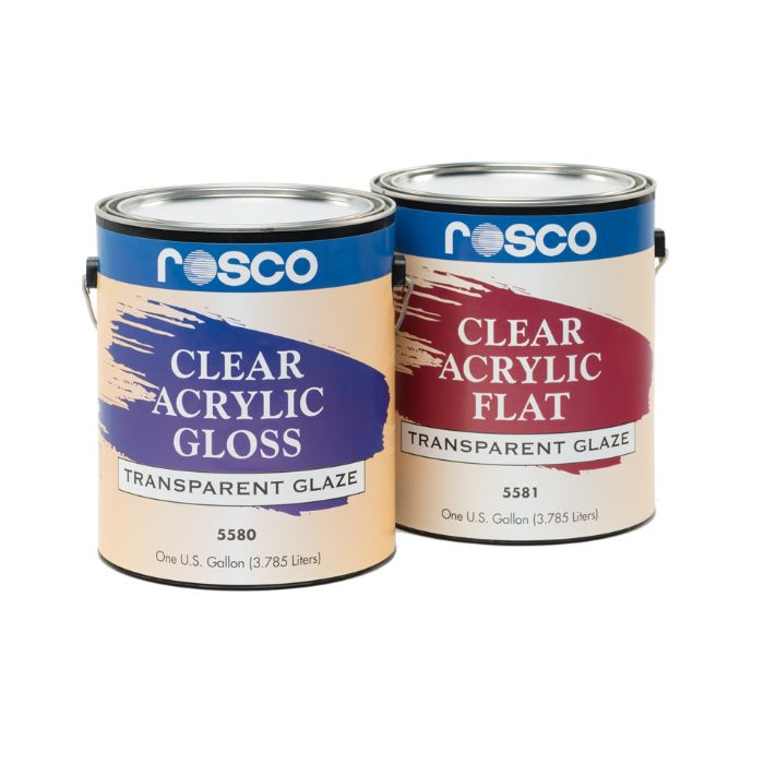 Rosco Clear Flat Acrylic Glazes 3.79 Litres