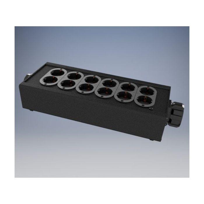Socapex outlet box 6x Double Schuko / Thru