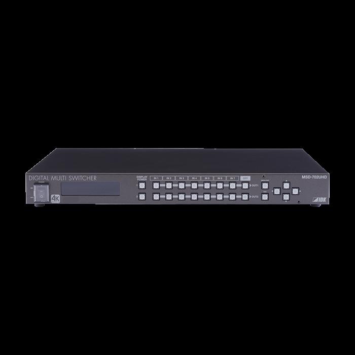 IDK 4K@60 Digital Multi Switcher, 7 Inputs & 2 Out